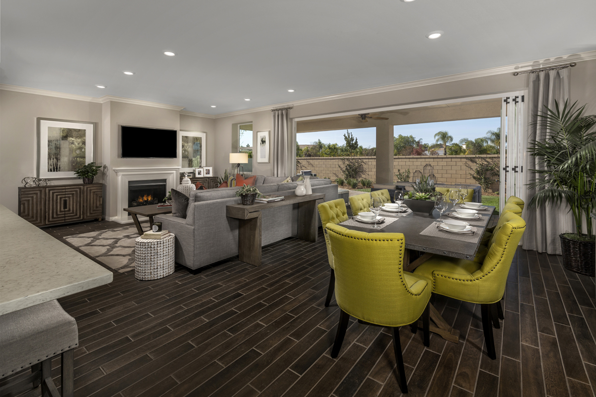 KB model home Great Room in French Valley, CA