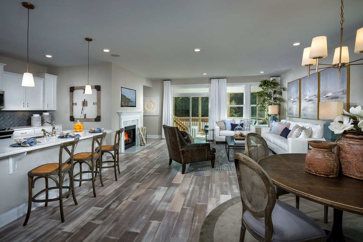 KB model home Dining and Kitchen in Cary, NC